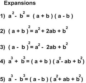 Rules for Basic Expansion of Algebraic Expressions- Solved Example